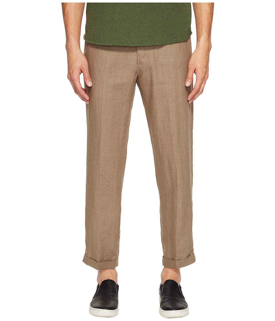 Vince - Hemp Cropped Trousers (Pebble Taupe) Men's Casual Pants
