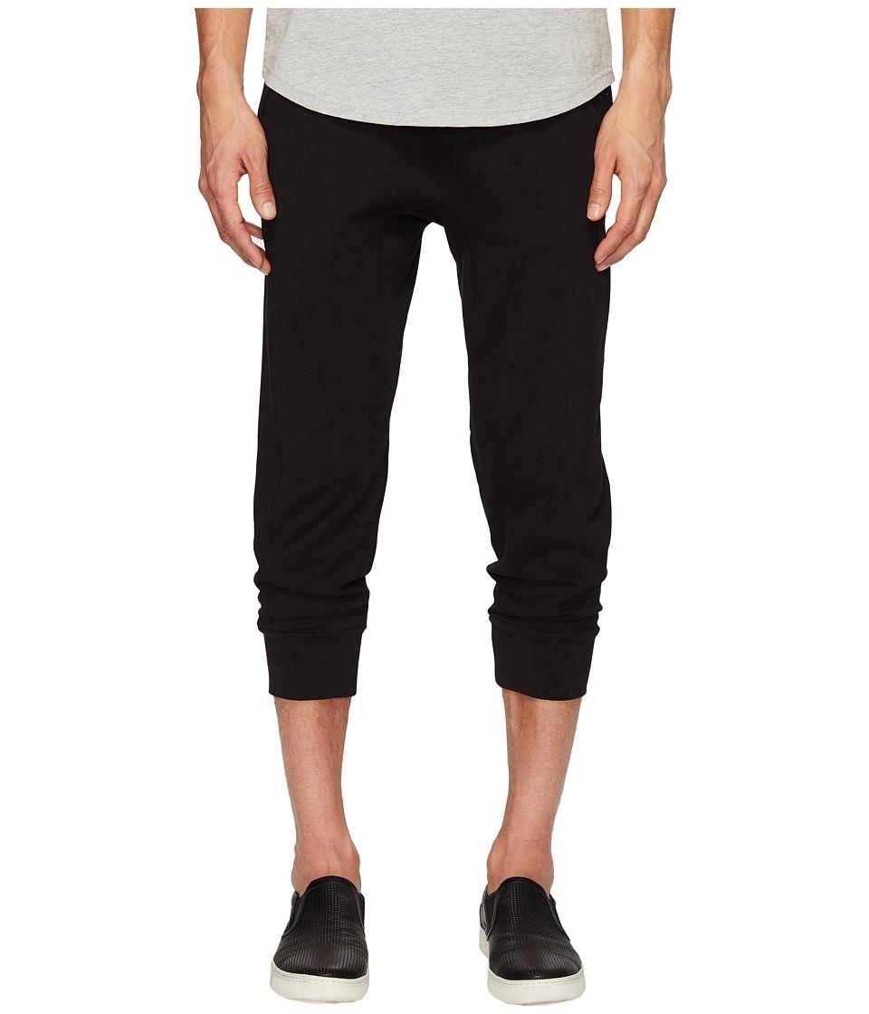 Vince - Cropped Sweatpants (Black) Men's Casual Pants