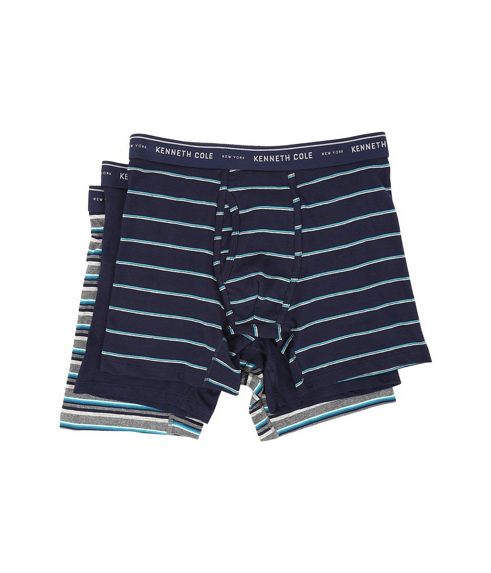 Kenneth Cole Reaction - Boxer Brief (Navy Marine) Men's Underwear
