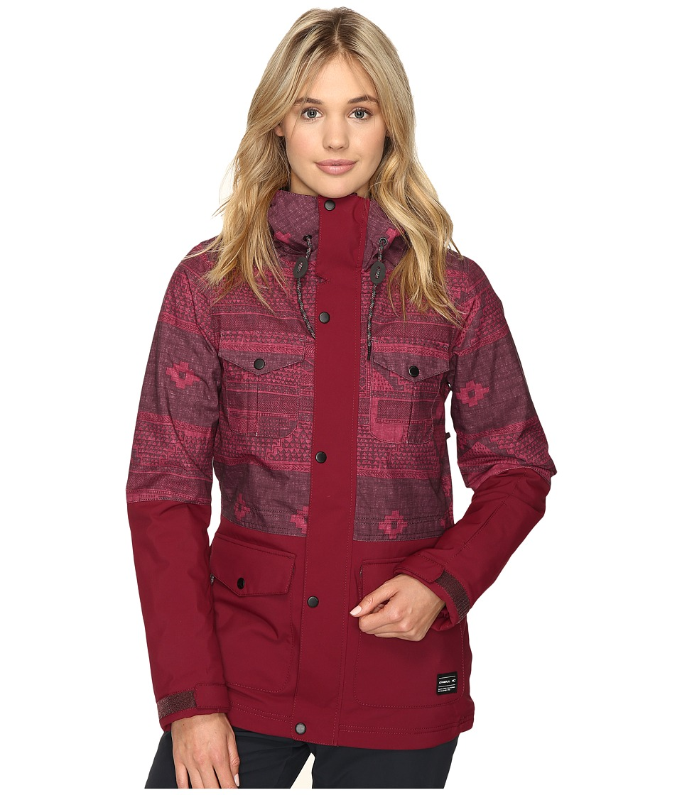 O'Neill - Cluster Jacket (Red All Over Print) Women's Jacket