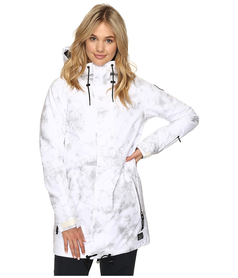 O'Neill - Queen Peak Jacket (White All Over Print) Women's Jacket