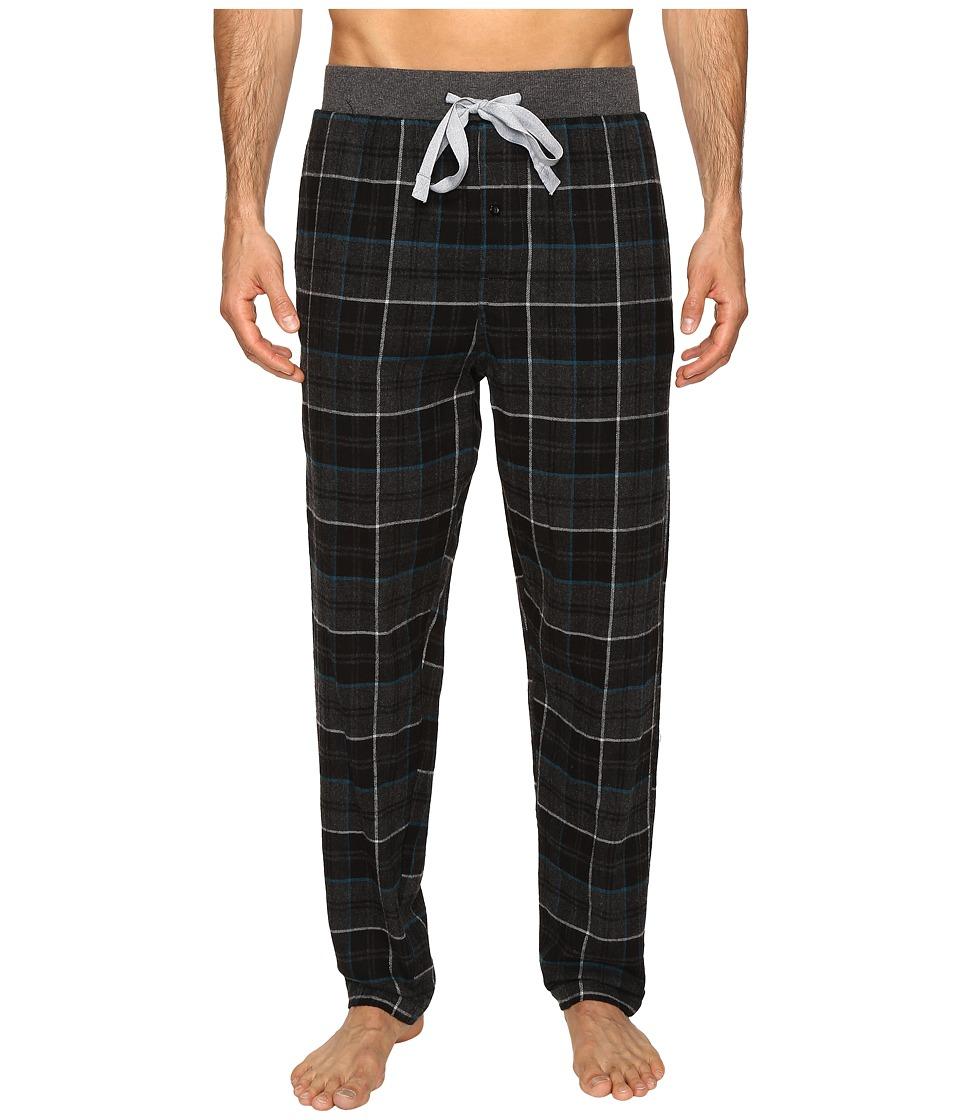 Kenneth Cole Reaction - Banded Flannel Pants (Black) Men's Pajama