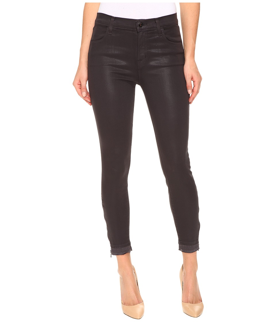 J Brand - Alana High-Rise Crop Skinny w/ Raw Hem and Zip in Coated Dust (Coated Dust) Women's Jeans