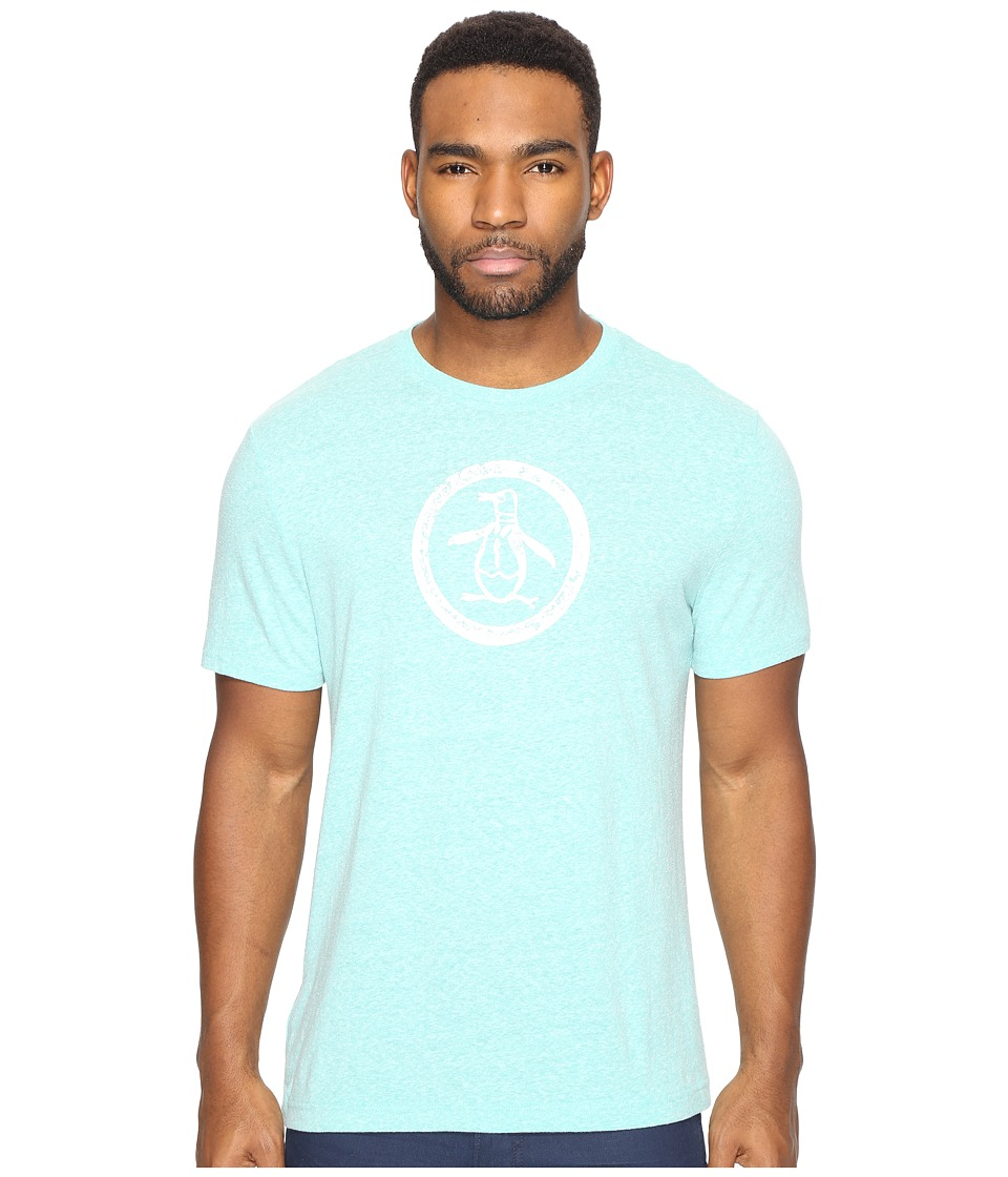 Original Penguin - Tri-Blend Distressed (Bright Aqua) Men's T Shirt