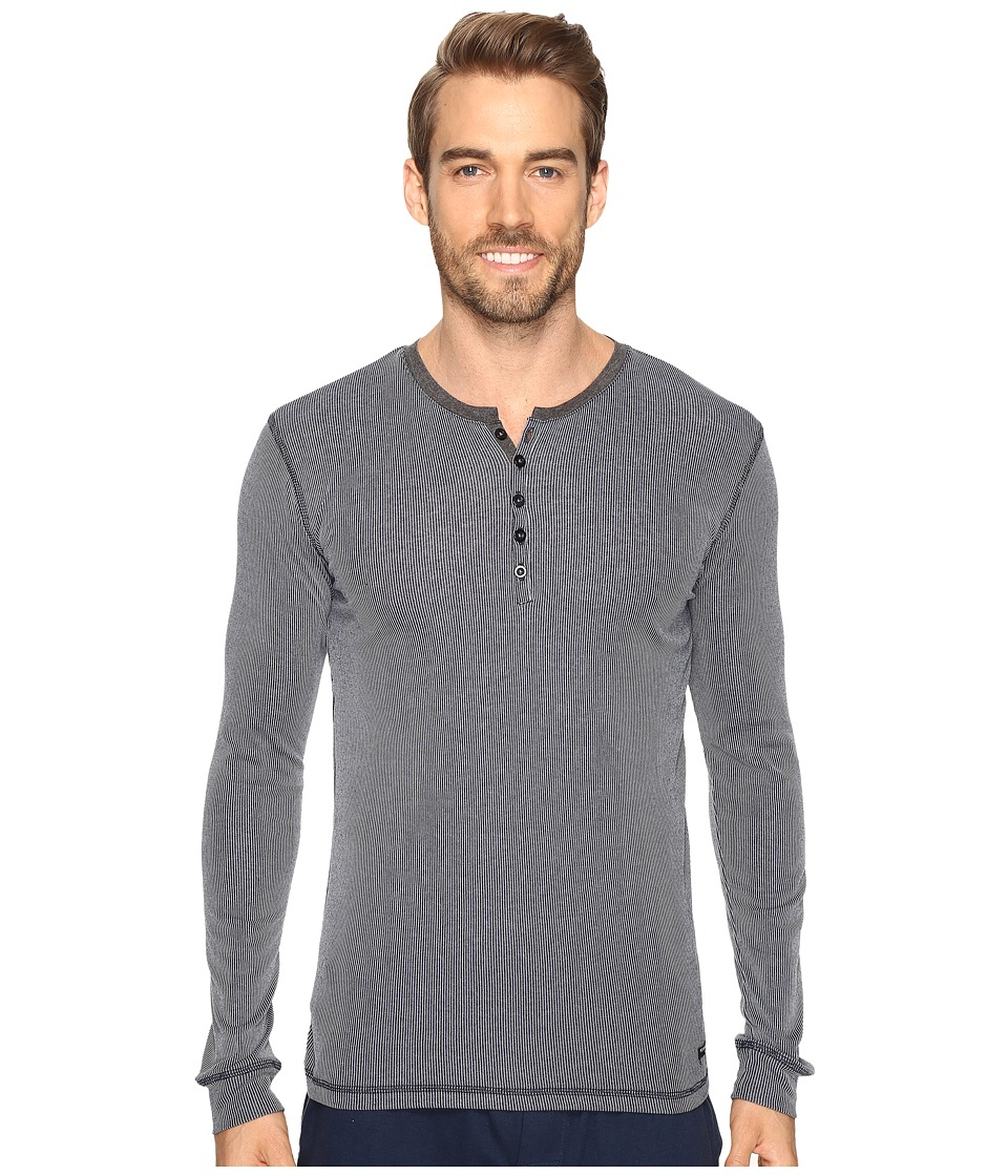 Kenneth Cole Reaction - Ribbed Henley (Navy) Men's Pajama