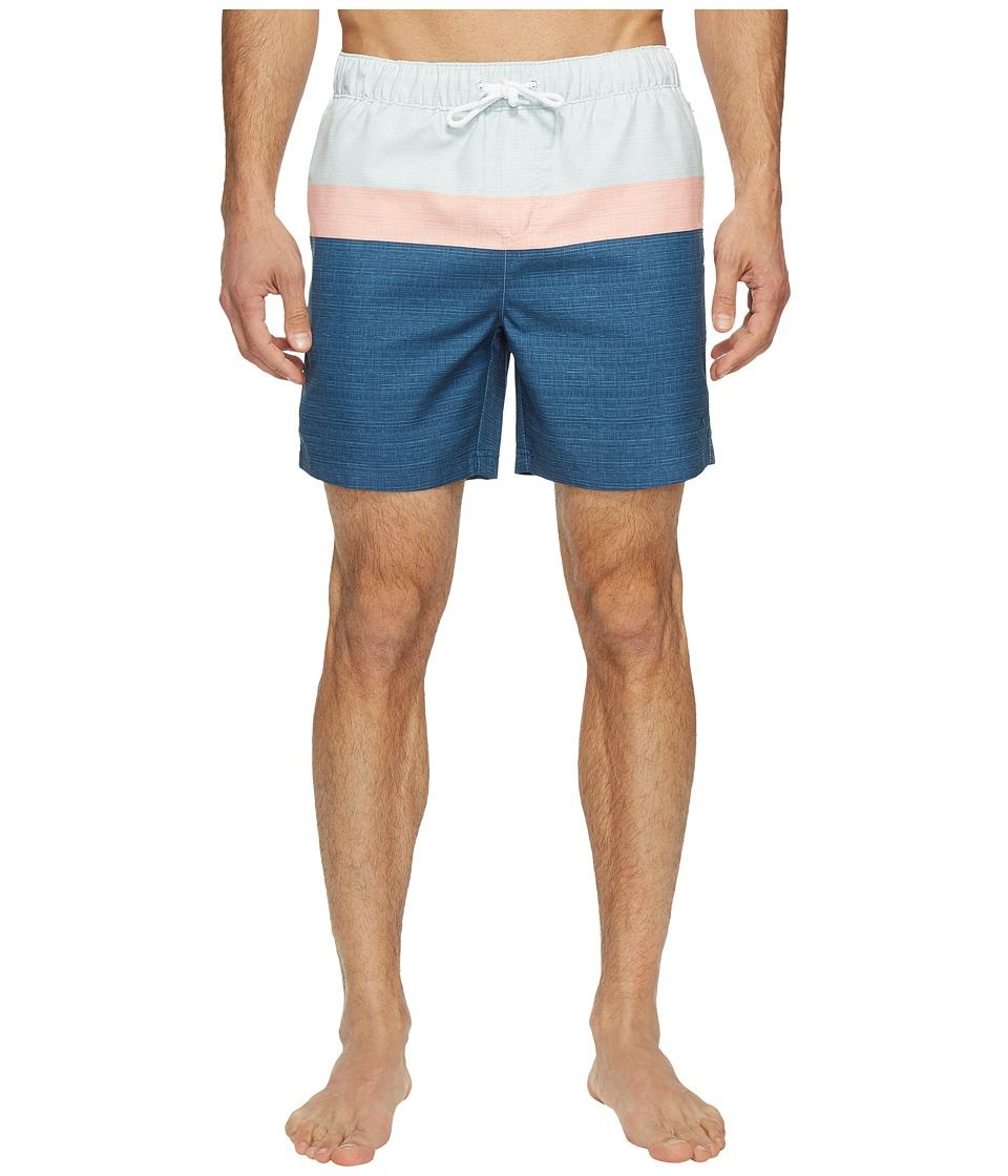 Original Penguin - Color Blocked Elastic (Ballad Blue) Men's Swimwear
