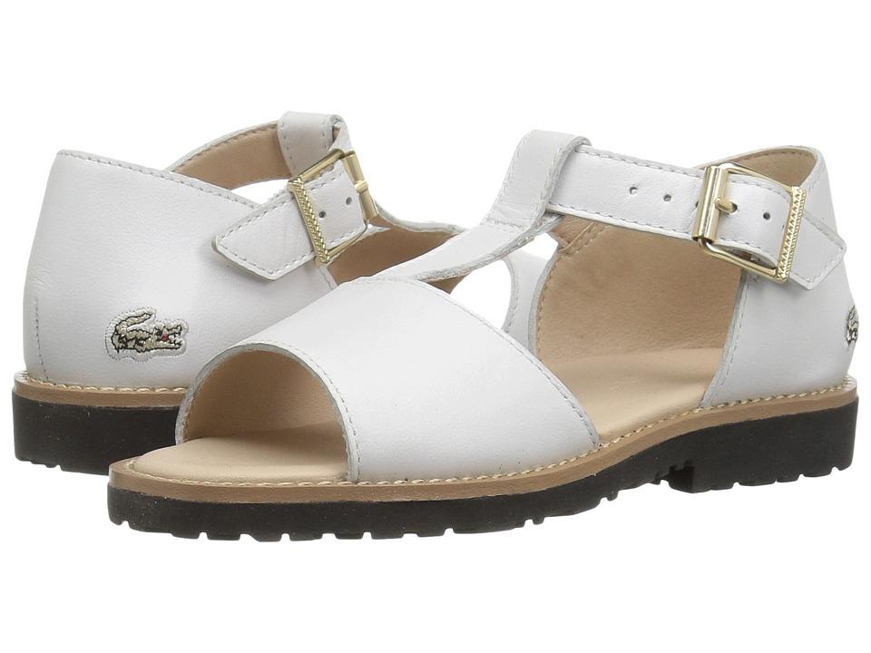 Lacoste Kids Jardena Sandal 117 1 CAI (Toddler) (White) Kids Shoes