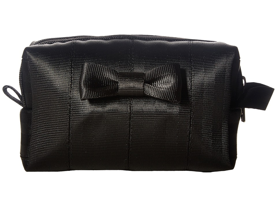 Harveys Seatbelt Bag - Mini Bow Dopp Kit (Black) Handbags