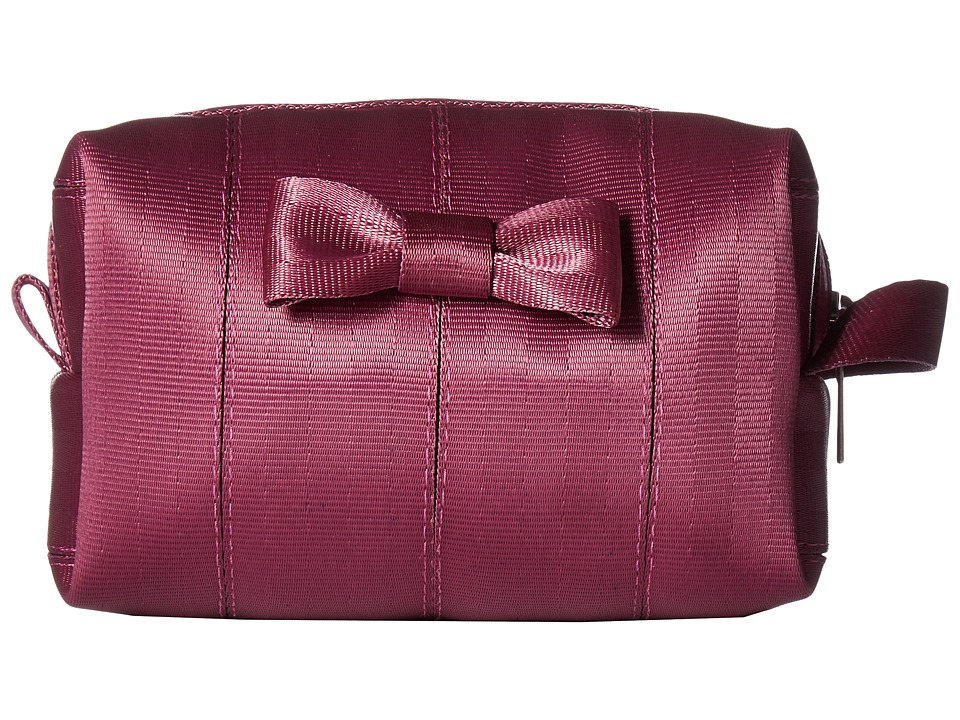 Harveys Seatbelt Bag - Mini Bow Dopp Kit (Plum) Handbags
