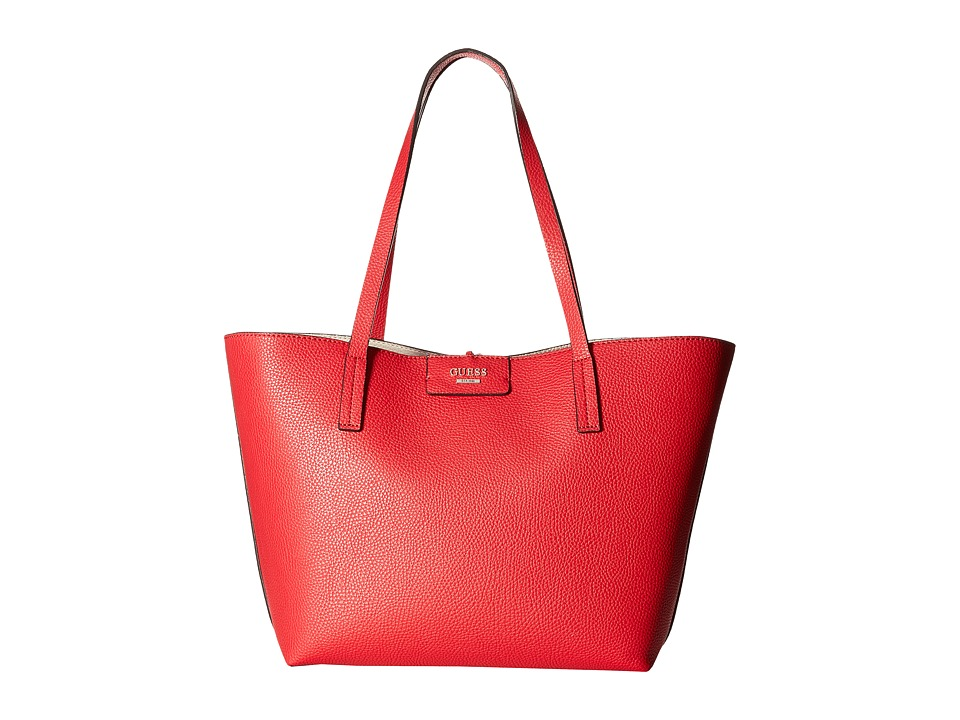 GUESS - Bobbi Inside Out Tote (Red Multi) Tote Handbags