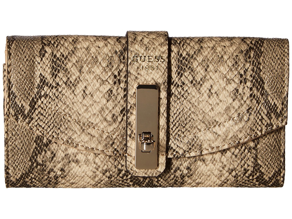 GUESS - Kingsley Slim Clutch (Python) Clutch Handbags