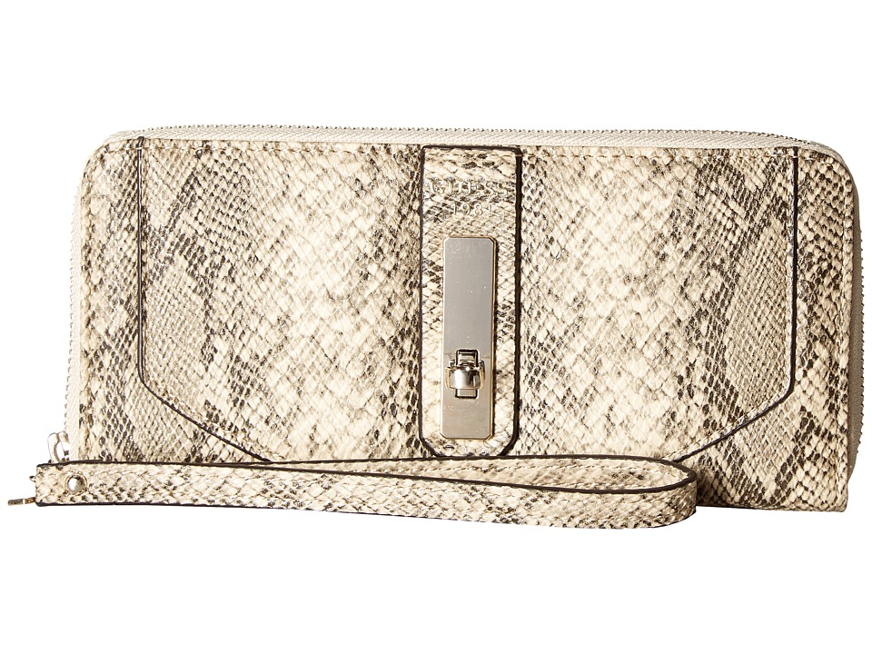 GUESS - Kingsley Large Zip Around (Python) Handbags