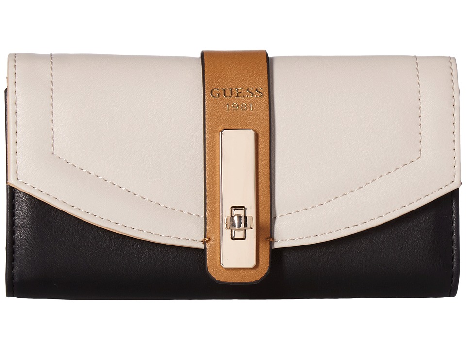GUESS - Kingsley Slim Clutch (Stone Multi) Clutch Handbags