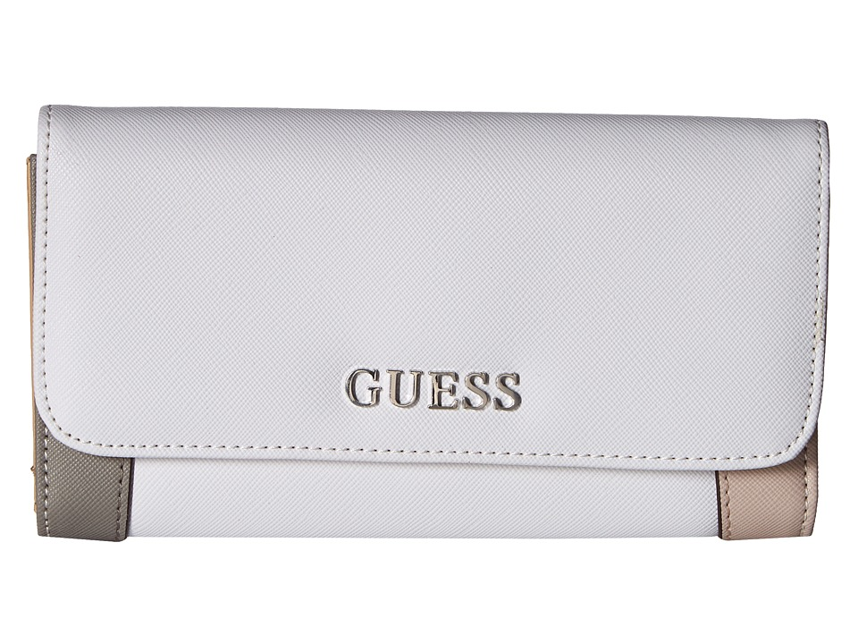 GUESS - Huntley Slim Clutch (Cloud Multi) Clutch Handbags