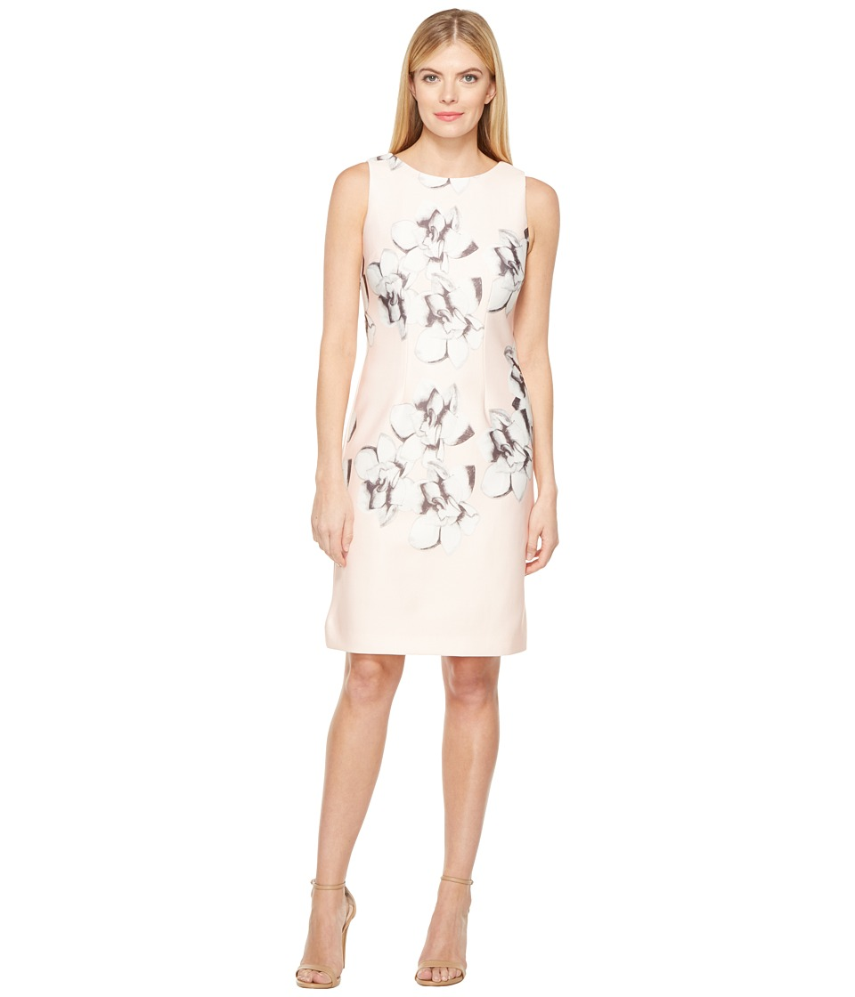 Christin Michaels - Arctic Scuba Dress (Blush/Grey) Women's Dress