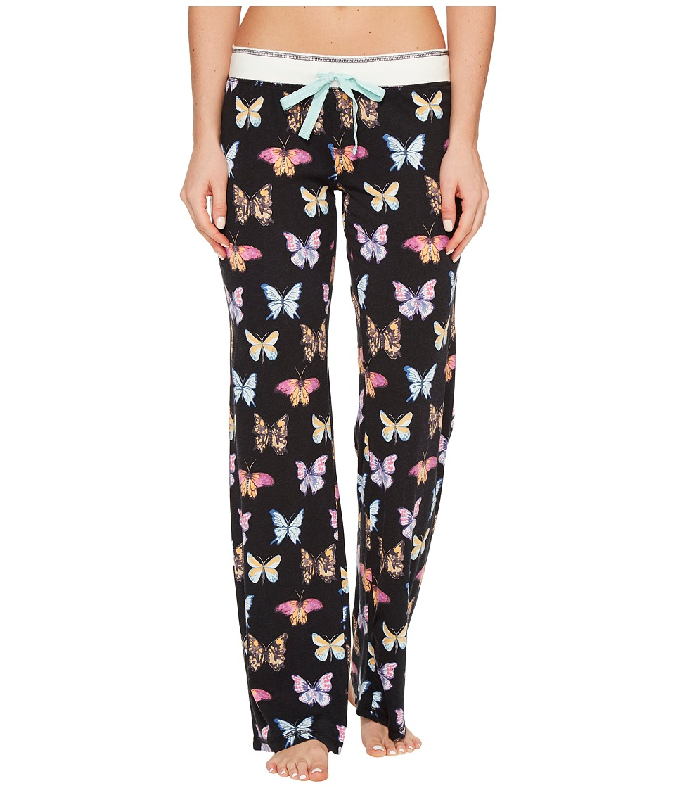 P.J. Salvage - Butterfly PJ Pants (Black) Women's Pajama
