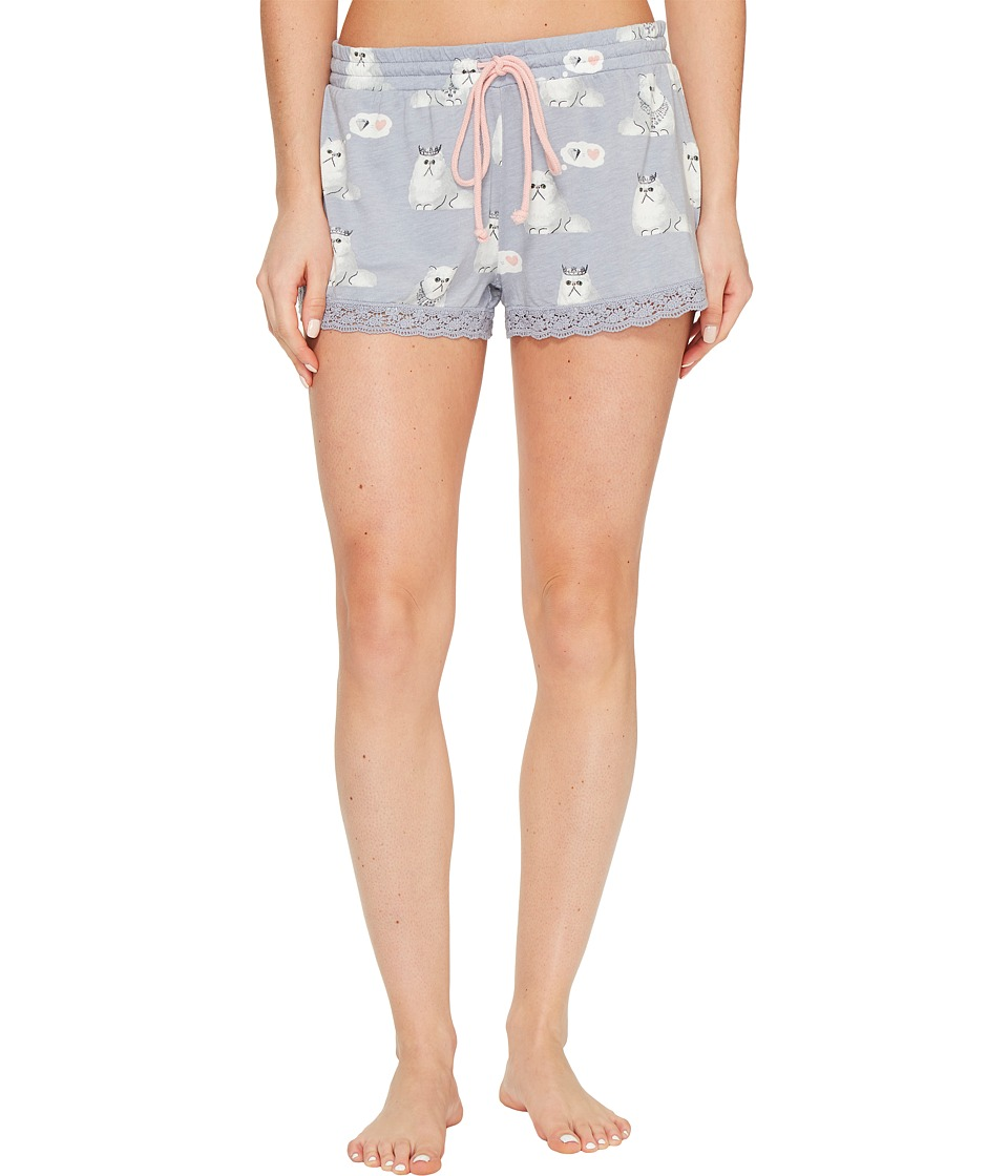 P.J. Salvage - Purrty Tired PJ Shorts (Dove) Women's Pajama