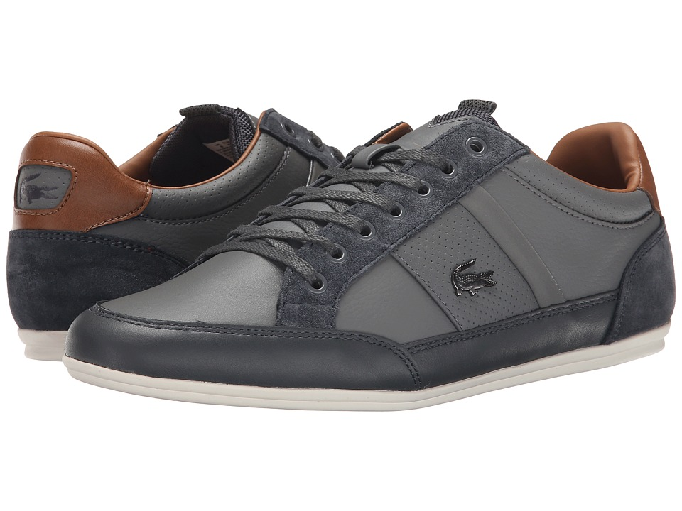 Lacoste - Chaymon PRM2 US (Light Grey/Dark Grey) Men's Shoes