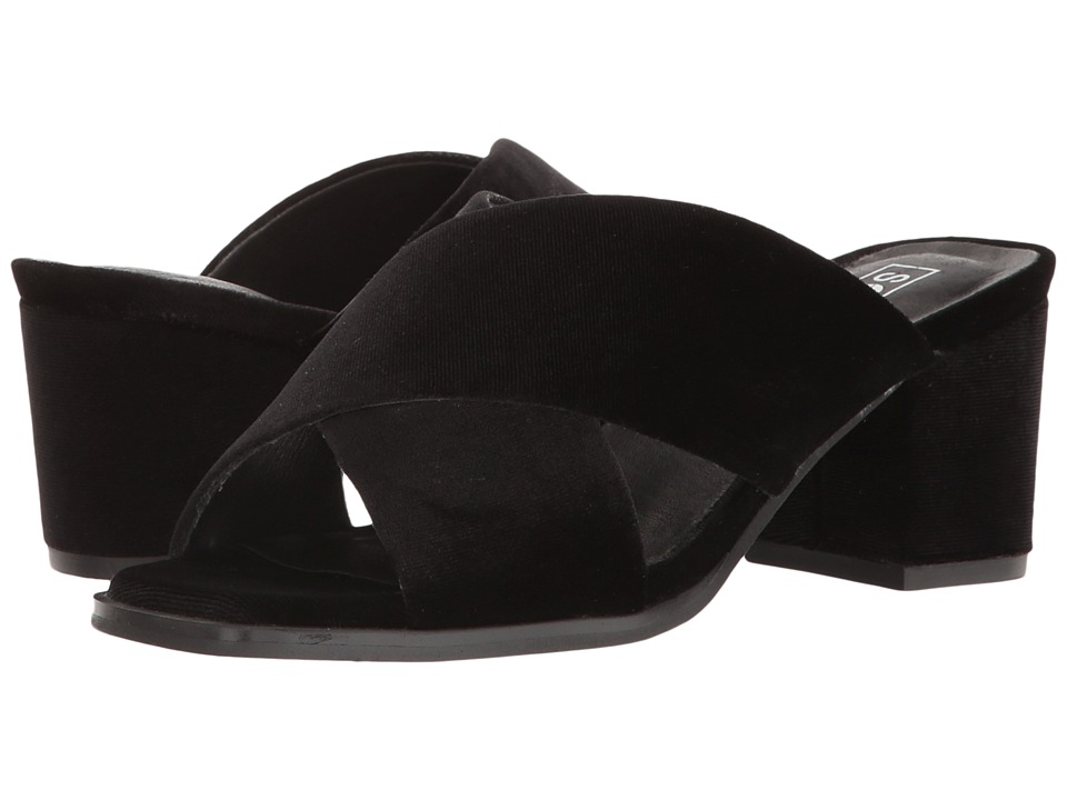 Sol Sana - Tilda Mule (Black Velvet) Women's Clog/Mule Shoes