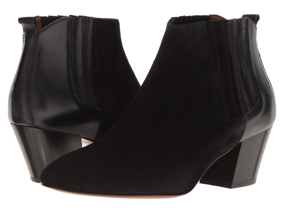 Aquatalia - Finley (Black Suede/Calf) Women's Shoes
