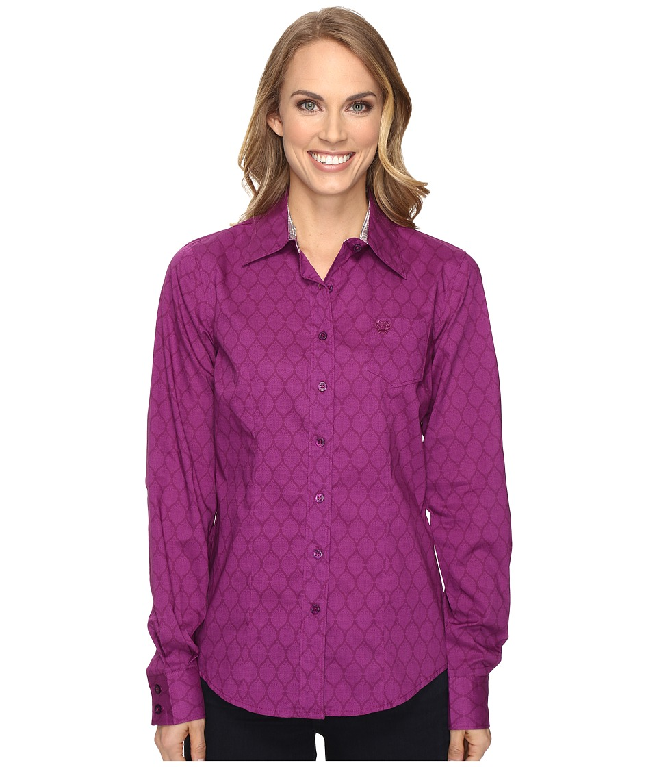 Cinch - Cotton Plain Weave Print (Purple) Women's Clothing