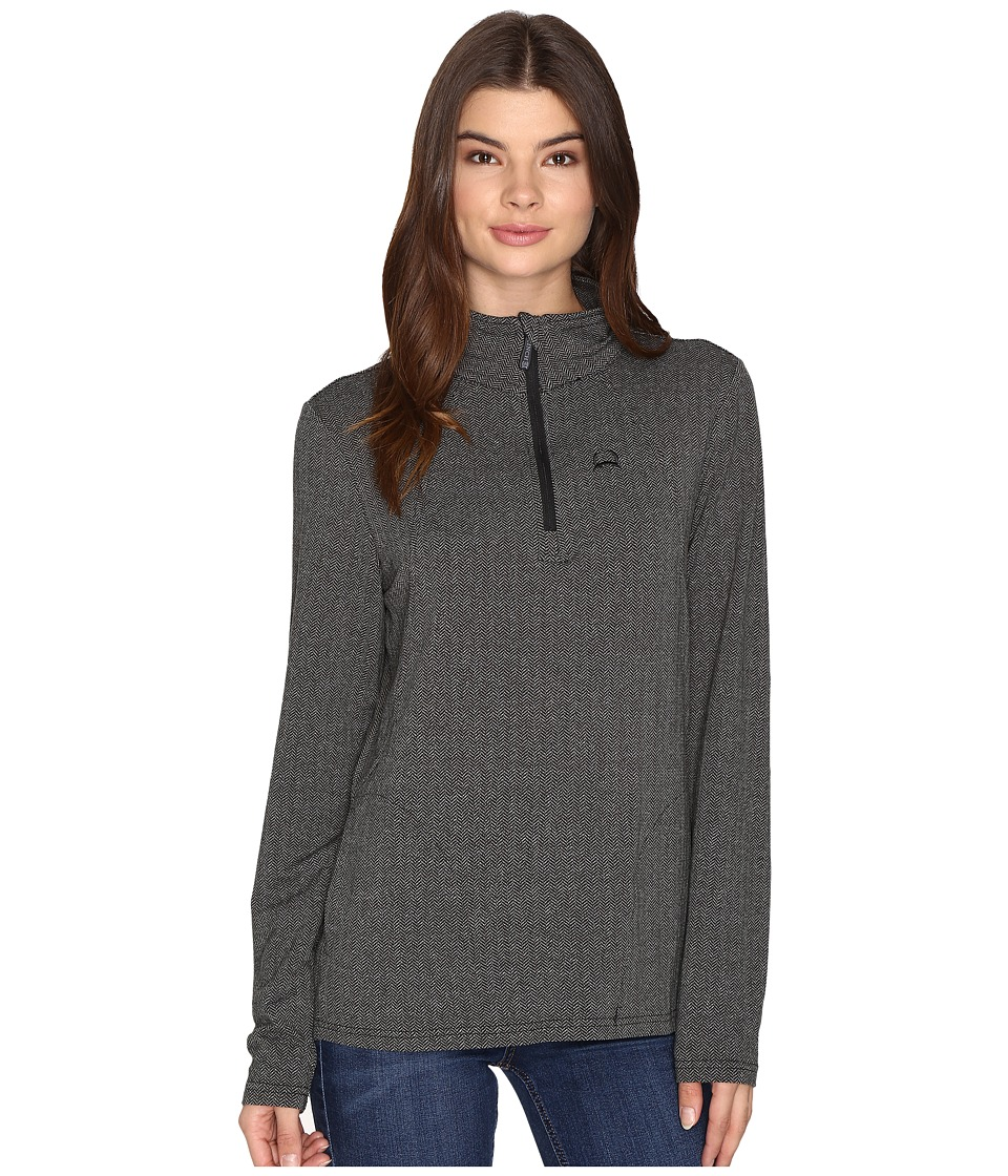 Cinch - Long Sleeve 1/4 Zip Pullover (Grey) Women's Clothing