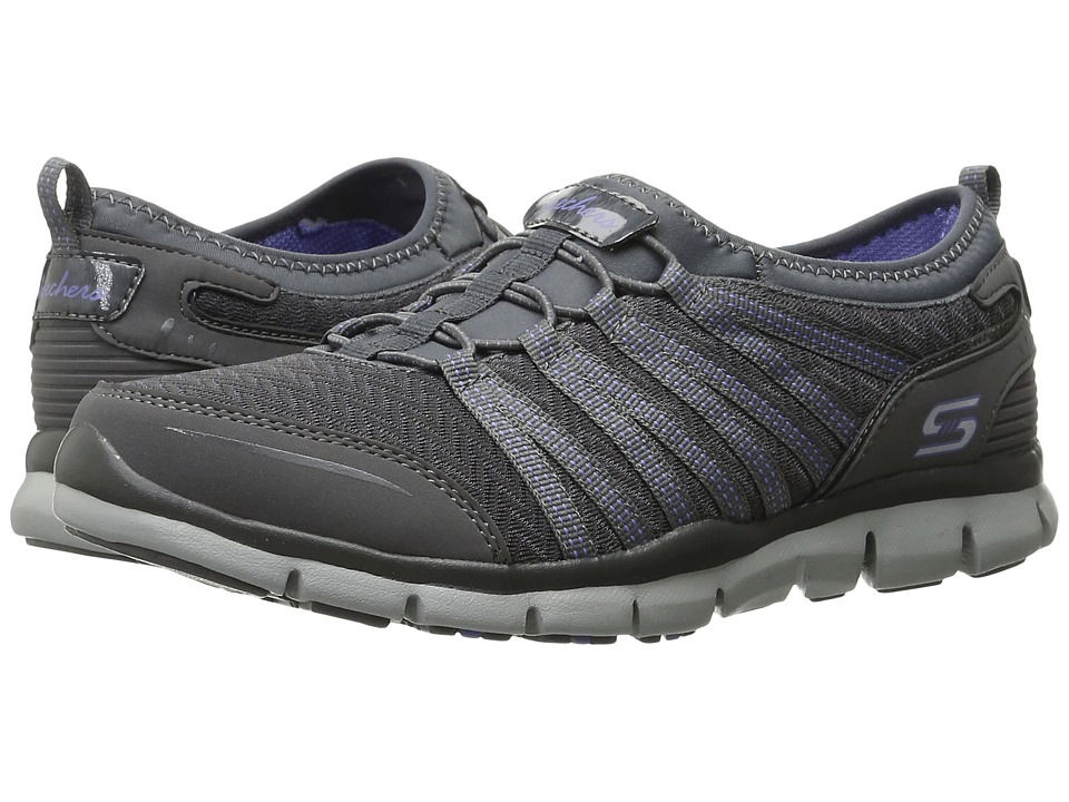 SKECHERS - Gratis - Enticing (Charcoal/Purple) Women's Shoes