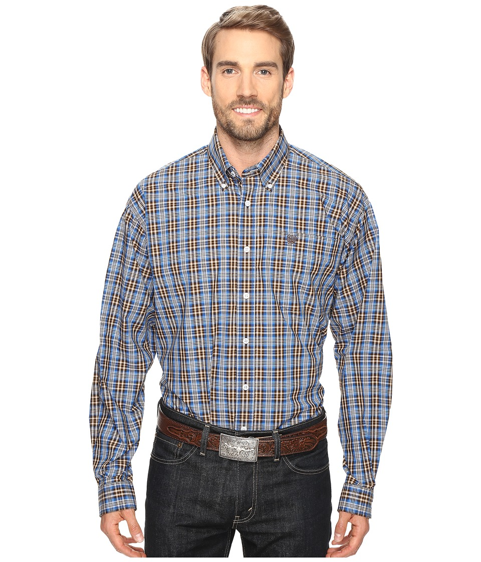 Cinch - Long Sleeve Plain Weave Plaid (Multicolored 2) Men's Long Sleeve Button Up