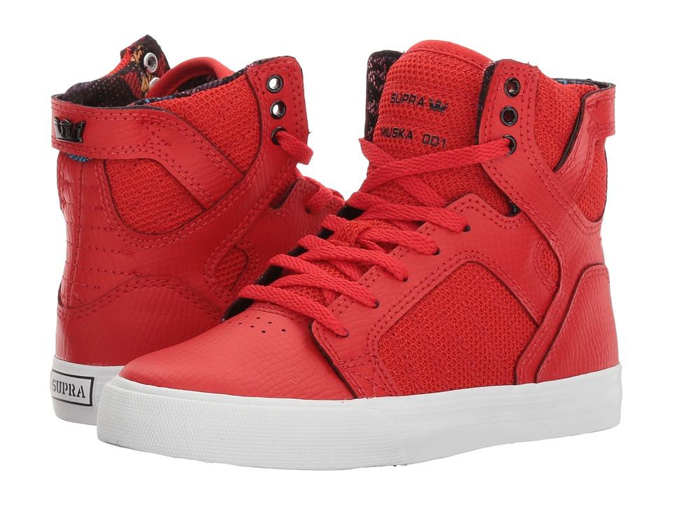 Supra Kids - Skytop (Little Kid/Big Kid) (Red/White) Boys Shoes