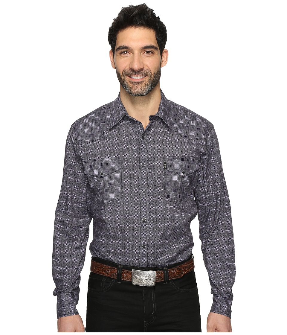 Cinch - Modern Fit Western Plain (Lilac) Men's Clothing