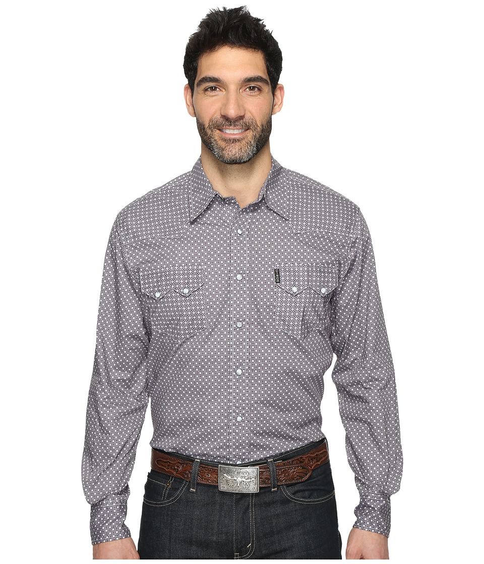 Cinch - Modern Fit Western Plain (Grey) Men's Clothing