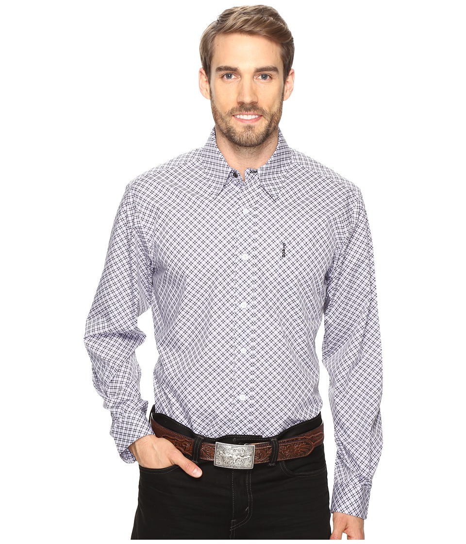 Cinch - Modern Fit Basic Print (Lilac) Men's Long Sleeve Button Up