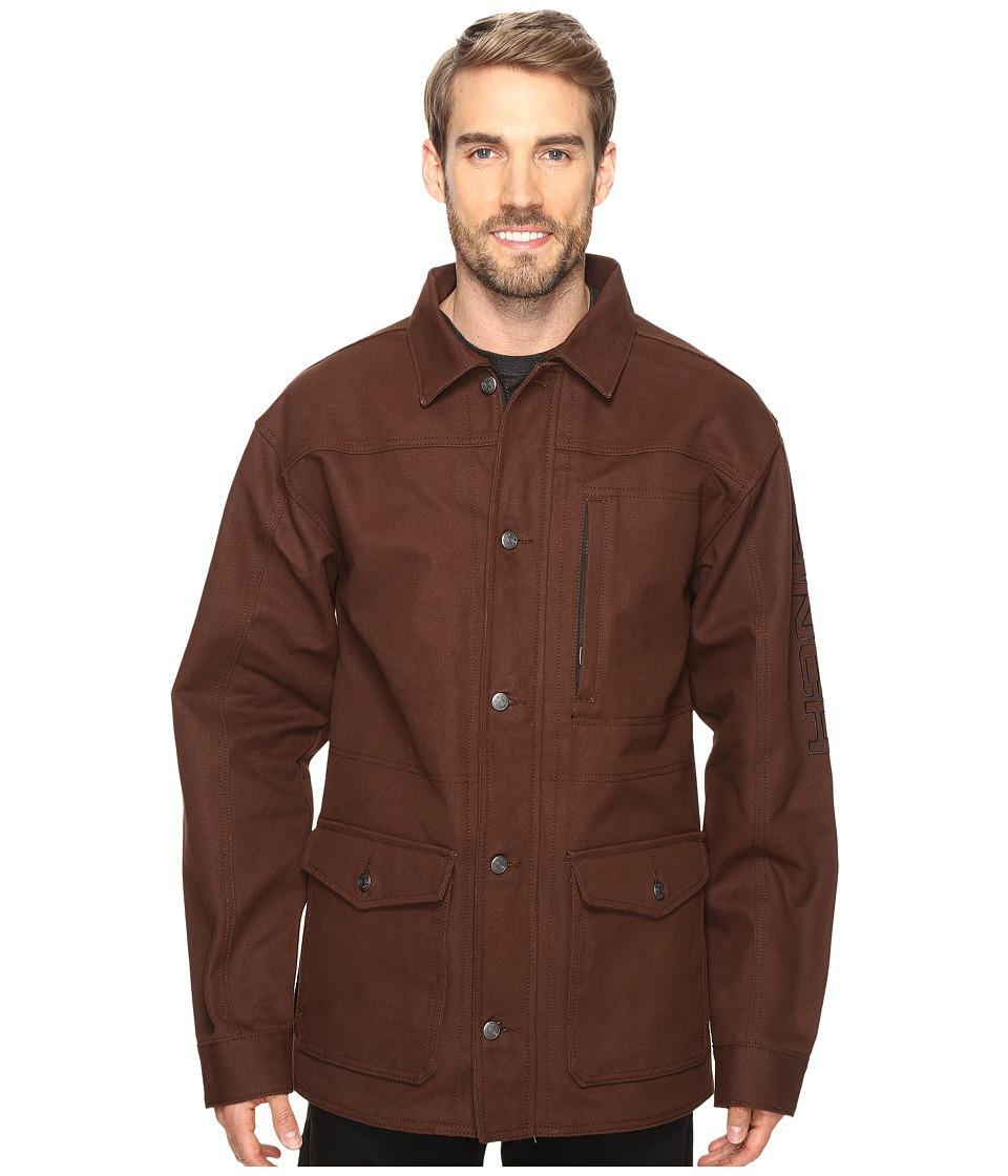 Cinch - 3/4 Length Canvas Jacket (Brown) Men's Coat