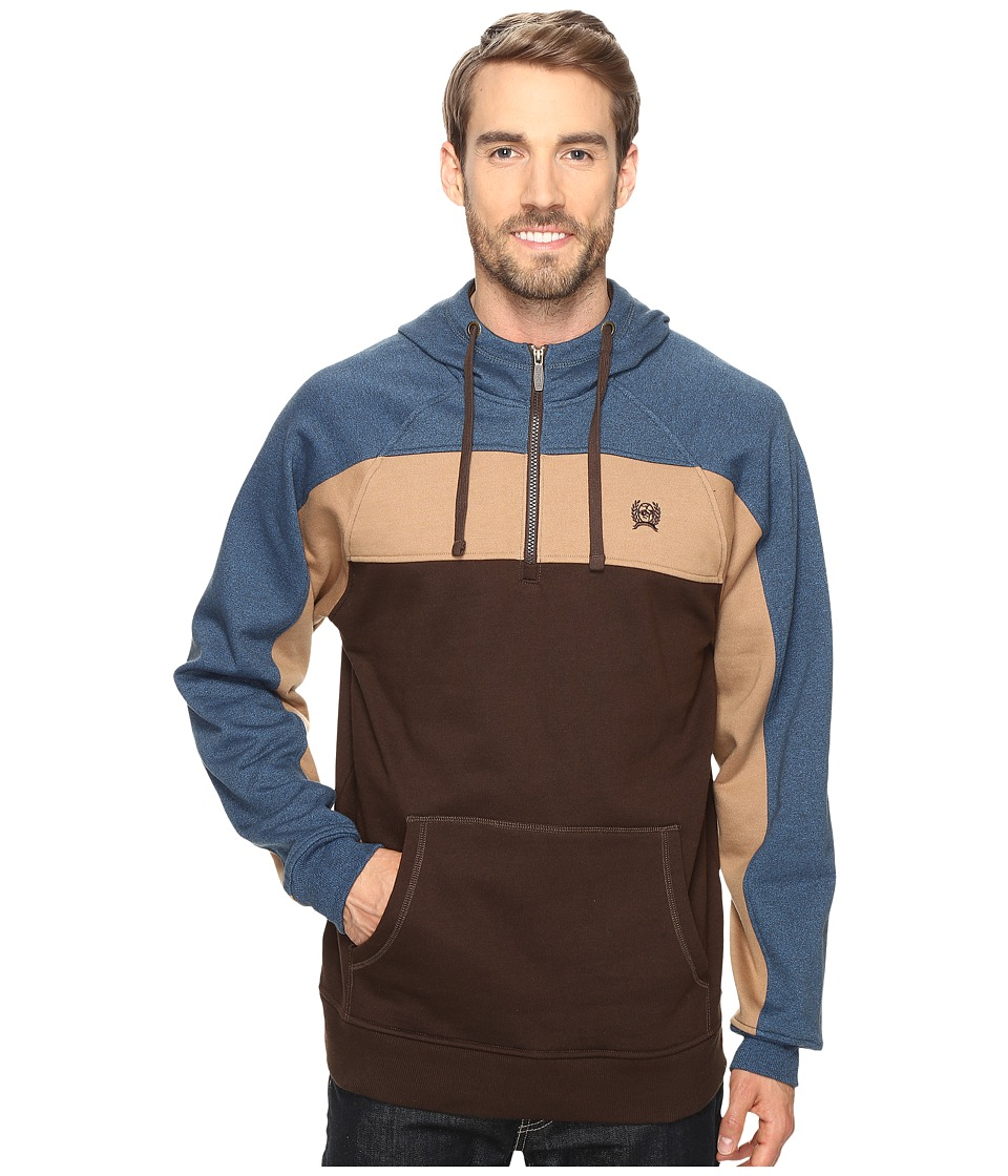 Cinch - Raglan Hoodie w/ Color Blocking (Multicolored) Men's Sweatshirt