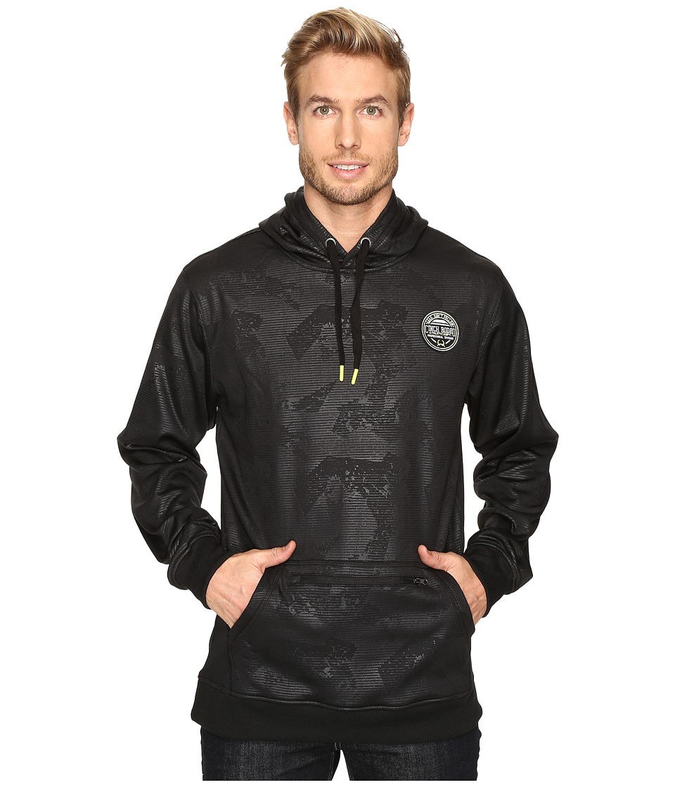 Cinch - Tech Fleece Hoodie w/ Zipper Pocket (Black) Men's Sweatshirt