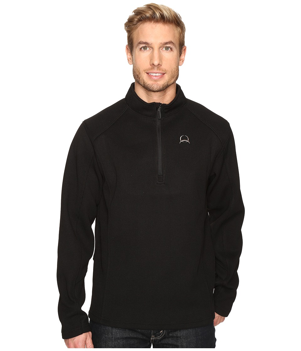 Cinch - Sweater Fleece 1/4 Fleece Pullover (Black) Men's Clothing