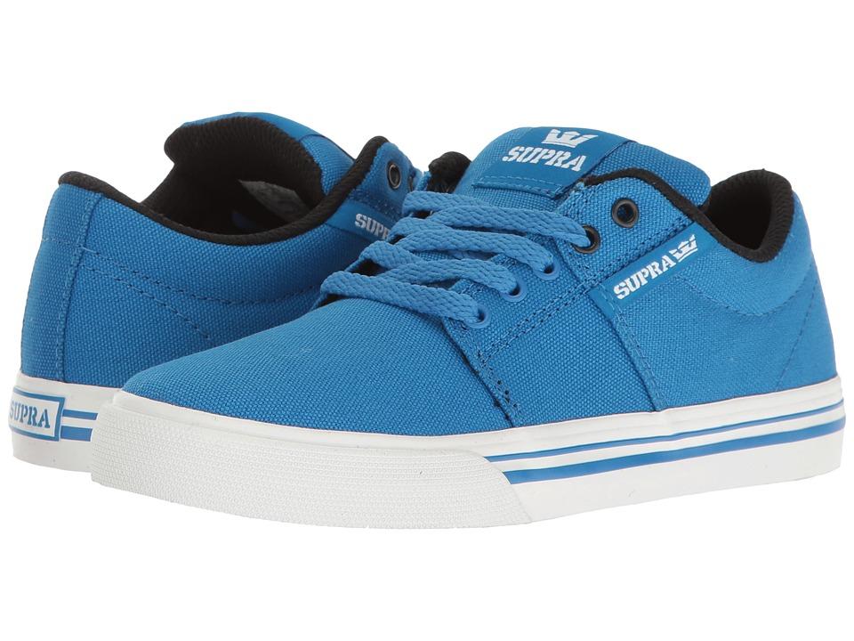 Supra Kids Stacks Vulc II (Little Kid/Big Kid) (Blue/White) Boys Shoes