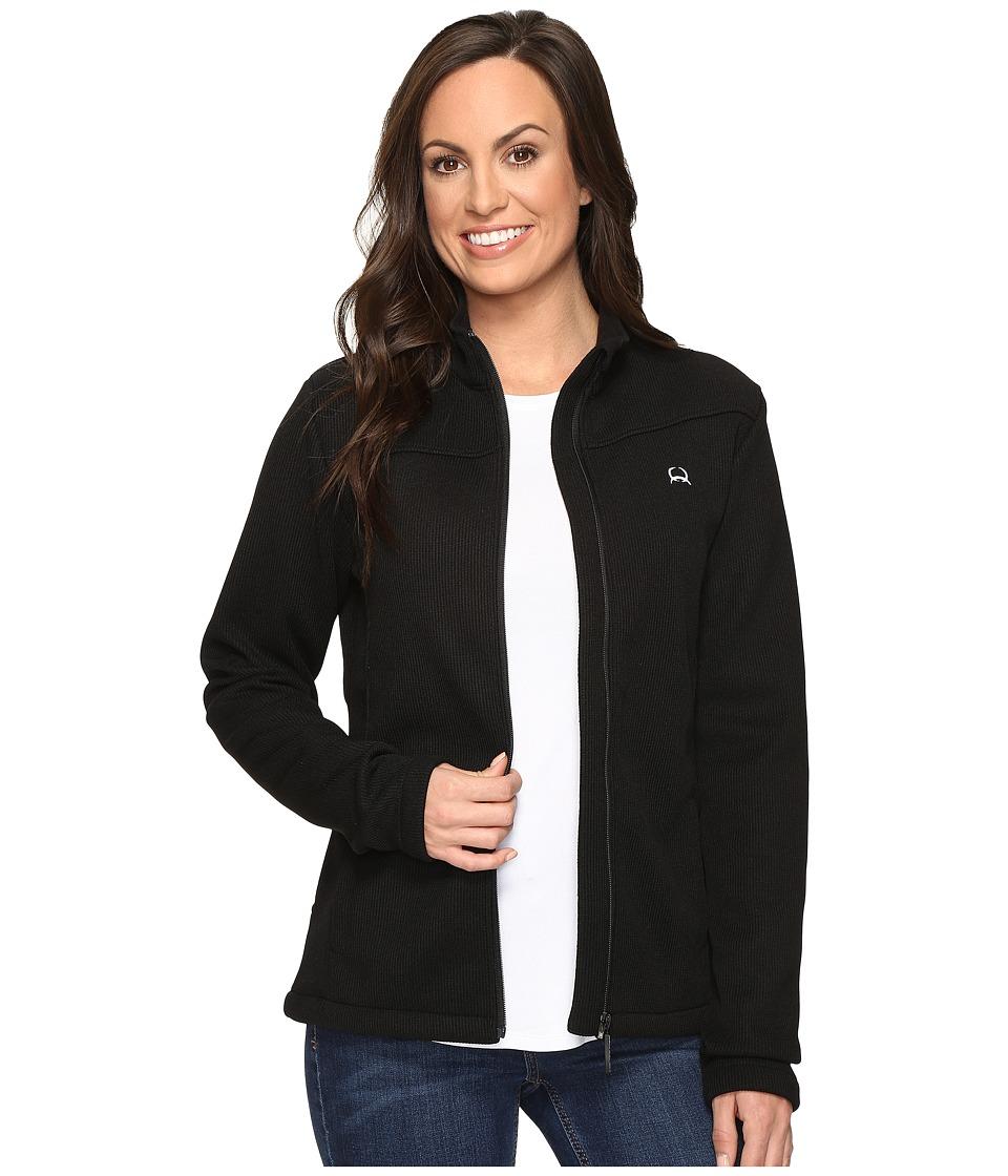 Cinch - Mock Neck Sweater Fleece (Black) Women's Sweater