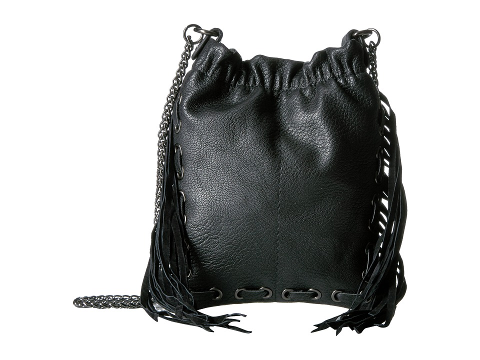 Circus by Sam Edelman - Neal Fringe Crossbody (Black) Cross Body Handbags