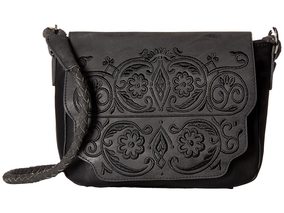 Circus by Sam Edelman - Trixie Embroidered Flap Crossbody (Black) Cross Body Handbags