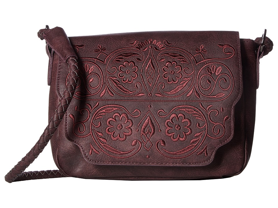 Circus by Sam Edelman - Trixie Embroidered Flap Crossbody (Port Wine) Cross Body Handbags