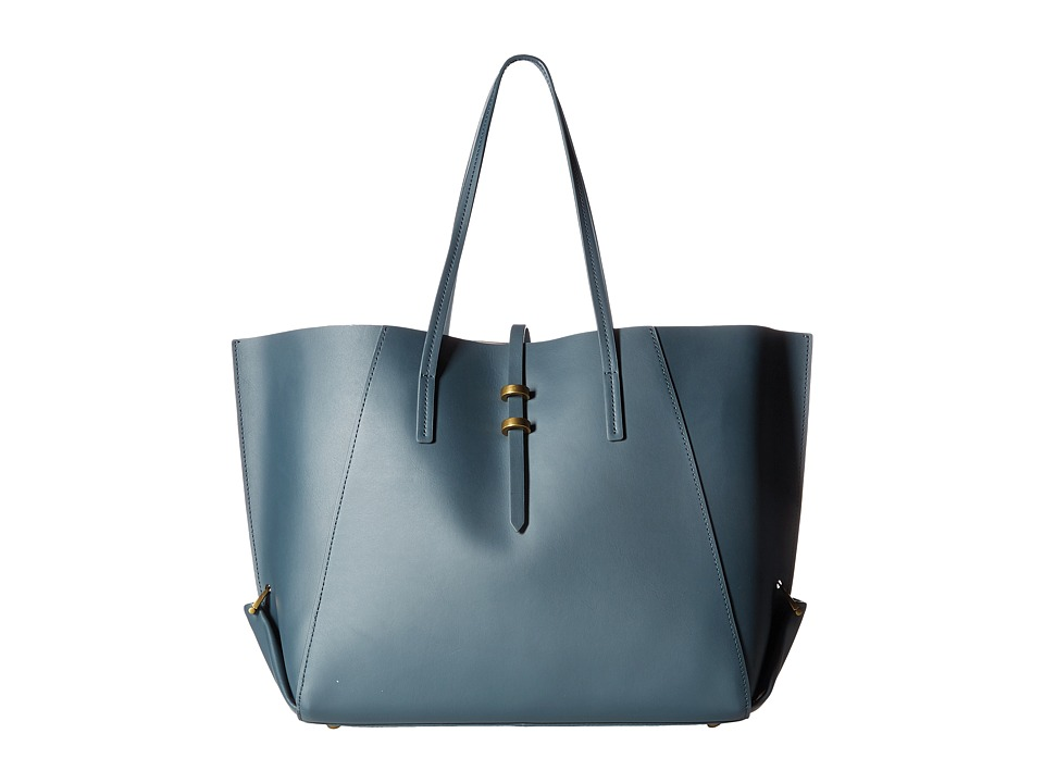 ZAC Zac Posen - Eartha Folded Gusset Shopper (Pewter) Handbags