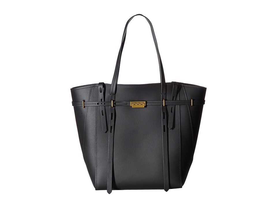 ZAC Zac Posen - Eartha Belted Shopper (Black) Satchel Handbags
