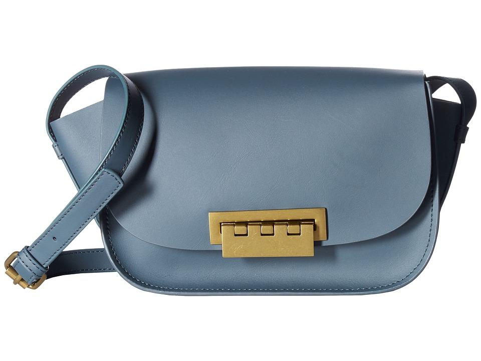 ZAC Zac Posen - Eartha Iconic Accordion (Pewter) Satchel Handbags