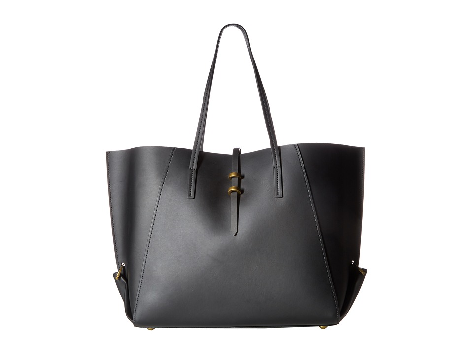ZAC Zac Posen - Eartha Folded Gusset Shopper (Black) Handbags