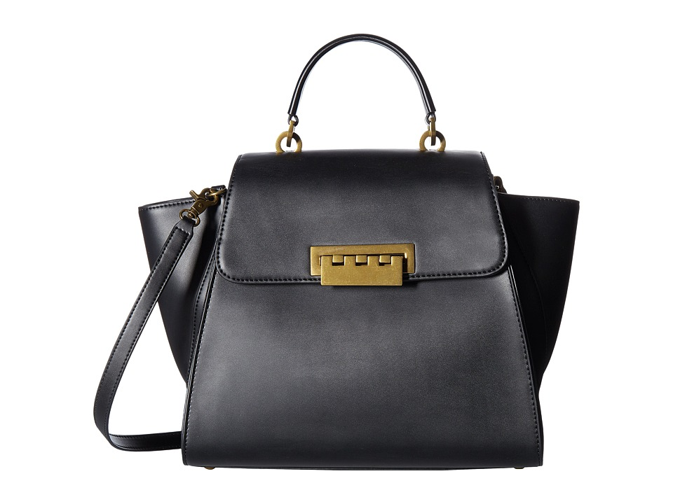 ZAC Zac Posen - Eartha Iconic Top-Handle (Black Solid) Top-handle Handbags