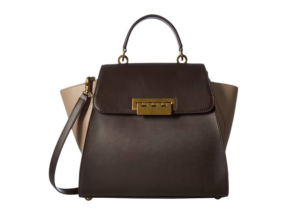 ZAC Zac Posen - Eartha Iconic Top-Handle (Brown/Neutral Color Block) Top-handle Handbags