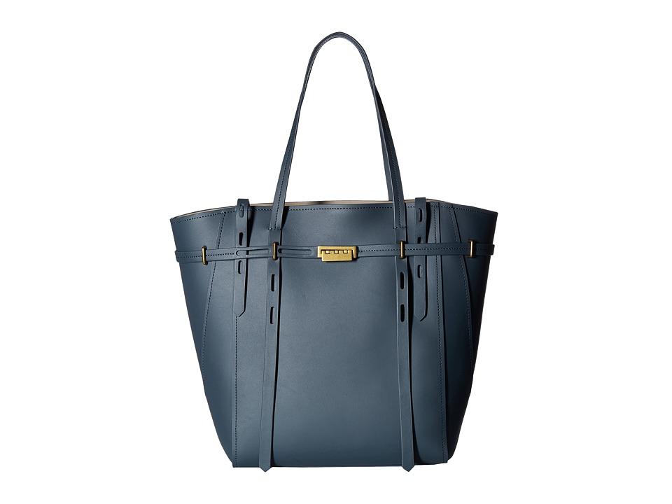 ZAC Zac Posen - Eartha Belted Shopper (Pewter) Satchel Handbags