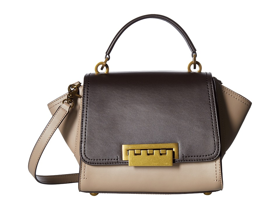 ZAC Zac Posen - Eartha Iconic Mini Top-Handle Crossbody (Brown/Neutral Color Block) Top-handle Handbags