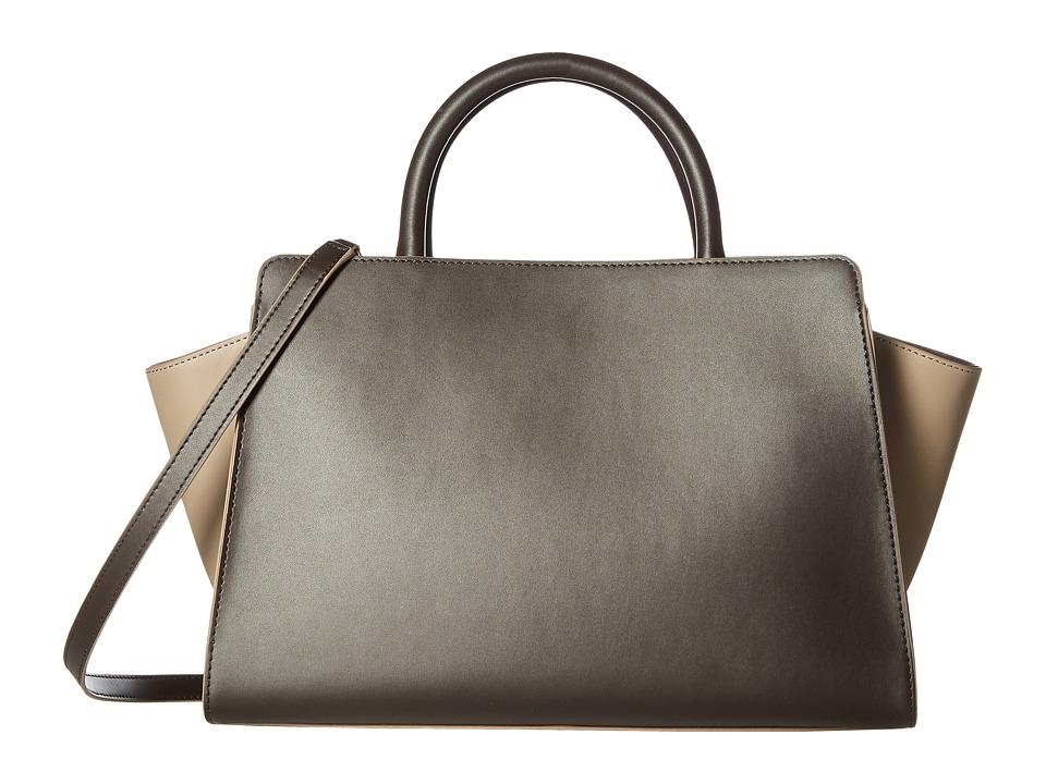ZAC Zac Posen - Eartha Iconic East/West Satchel (Brown/Neutral Color Block) Satchel Handbags